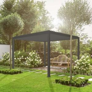 Nova Garden Furniture Grey 3m Square Aluminium Pergola
