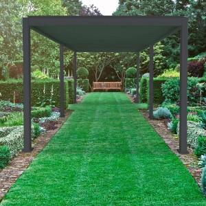 Nova Garden Furniture Grey 6m x 3m Rectangular Aluminium Pergola