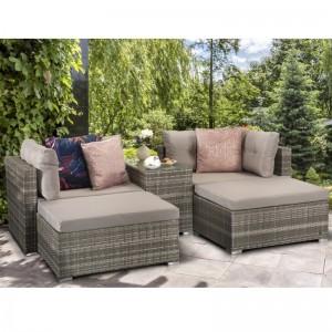 Signature Weave Garden Furniture Harper Grey Stackable Sofa Set - PRE ORDER