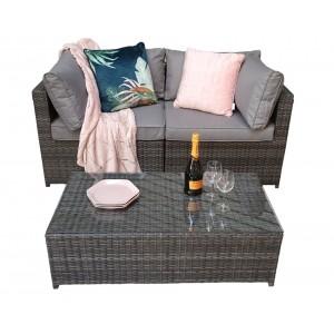 Signature Weave Garden Chelsea Grey Modular Sofa Dining Set with Storage