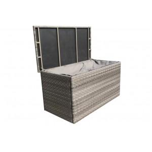 Signature Weave Garden Furniture Triple Weave Grey Large Cushion Storage Box