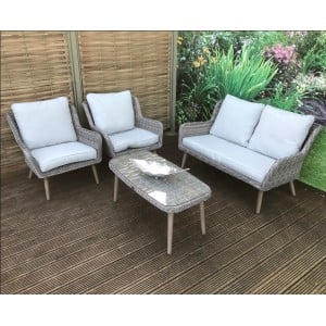 Signature Weave Garden Furniture Danielle Lounge Set With 2 Seater Sofa