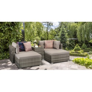Signature Weave Garden Furniture Harper Grey Stackable Sofa Set - PRE ORDER
