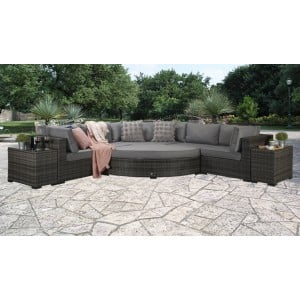 Signature Weave Garden Furniture Jessica Large Grey Corner Sofa Set