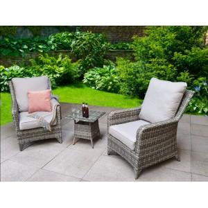 Signature Weave Garden Furniture Sarah High Back 5 Seater Sofa Set