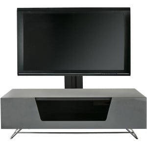 Alphason Furniture Chromium Grey Cantilever TV Stand with Bracket