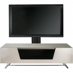 Alphason Furniture Chromium Ivory TV Cabinet with Bracket
