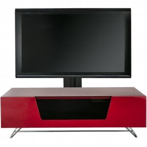 Alphason Furniture Chromium Red TV Cabinet with Bracket
