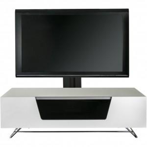 Alphason Furniture Chromium White TV Cabinet with Bracket