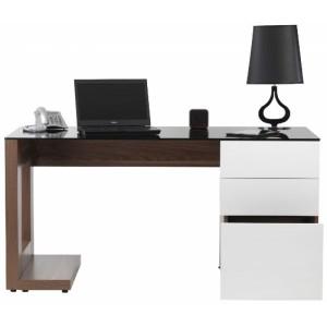 Alphason Office Furniture Sorbonne Walnut Effect Executive Computer Desk