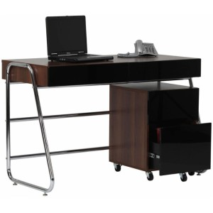 Alphason Office Furniture Juo Walnut 2 Drawer Pedestal