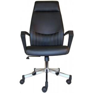 Alphason Brooklyn Black High Back Faux Leather Executive Office Chair