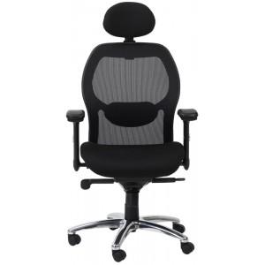 Alphason Office Furniture Portland Black Mesh Fabric Executive Chair