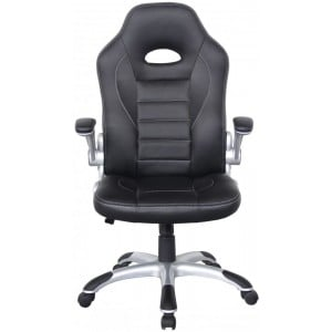 Alphason Office Furniture Talladega Black Faux Leather Racing Office Chair