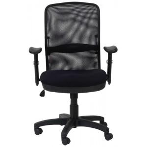 Alphason Office Furniture Dakota Black Mesh Fabric Managers Office Chair