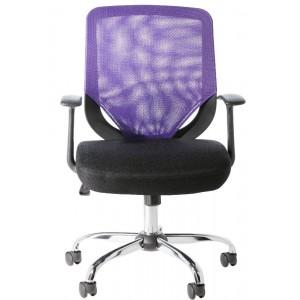 Alphason Office Furniture Atlanta Black and Purple Mesh Fabric Operator Chair