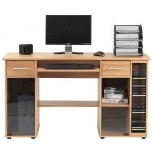 Alphason Office Furniture San Jose Beech Computer Desk