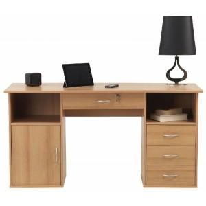 Alphason Office Furniture Dallas Beech Effect Computer Desk