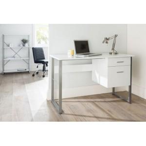 Alphason Office Furniture Cabrini White Office Desk