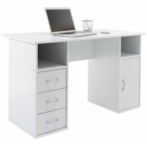 Alphason Office Furniture Marymount White Student Desk