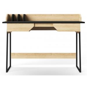 Alphason Office Furniture Salisbury Oak and Black Writing Desk