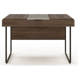 Alphason Office Furniture Dorset Walnut and Dark Grey Computer Desk
