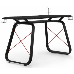 Alphason Office Furniture Oblivion Black and Red Gaming Desk