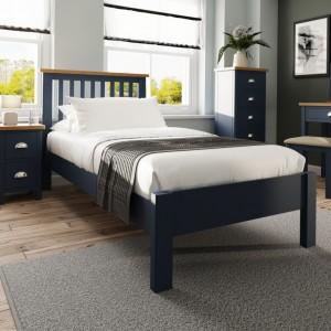 Wittenham Painted Furniture Blue Single 3ft Bed
