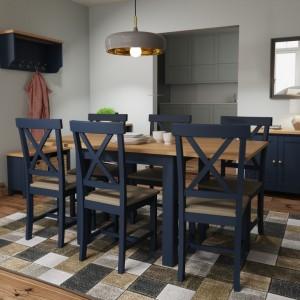Wittenham Blue Painted Furniture Flip Top Dining Table