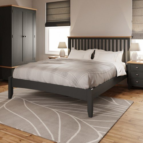 Galaxy Grey Painted Furniture 5' King Size Bed