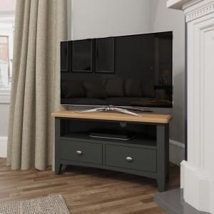 Galaxy Grey Painted Furniture Corner TV Unit