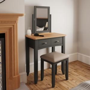 Galaxy Grey Painted Furniture Bedroom Stool