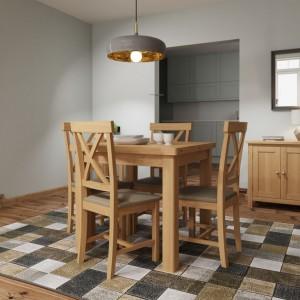 Buxton Rustic Oak Furniture Flip Top Dining Table