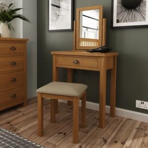 Buxton Rustic Oak Furniture Dressing Table Stool