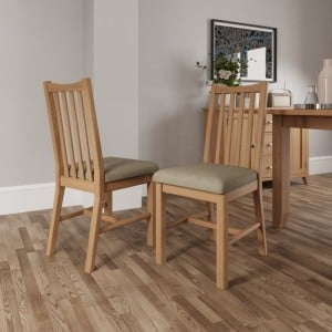 Exeter Light Oak Furniture Dining Chair (Pair)