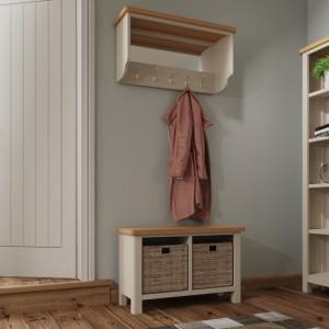 Wittenham Painted Furniture Grey Hall Bench Top