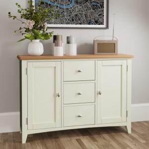 Galaxy White Painted Furniture 2 Door 3 Drawer Large Sideboard