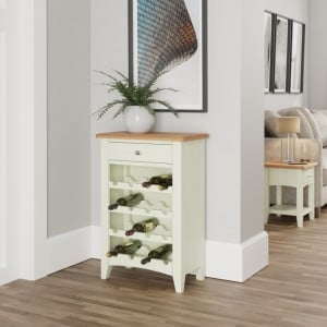 Galaxy White Painted Furniture Wine Cabinet with Drawer