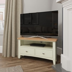 Galaxy White Painted Furniture Corner TV Unit