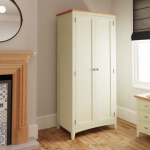 Galaxy White Painted Furniture 2 Door Full Hanging Wardrobe