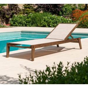 Alexander Rose Garden Furniture Sherwood Sling Adjustable Sunbed