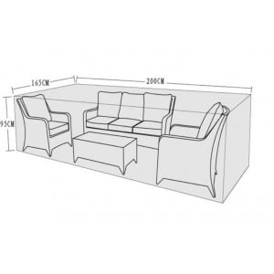 Signature Weave Garden Furniture 3 Seat Sofa Set Cover
