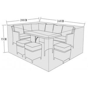 Signature Weave Garden Furniture Corner Dining Sofa Set Cover