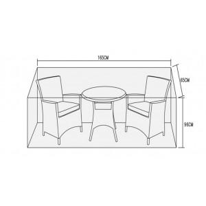 Signature Weave Garden Furniture 2 Seater Bistro Set Cover