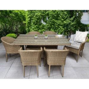 Signature Weave Garden Furniture Darcey 6-Seat Rectangular Dining Set