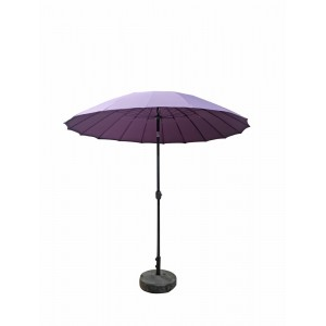 Signature Weave Garden Furniture 2.7m Shanghai Parasol with Purple Canopy