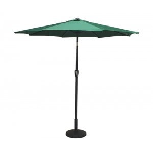 Signature Weave Garden Furniture 2.5m Table Parasol with Sage Green Canopy