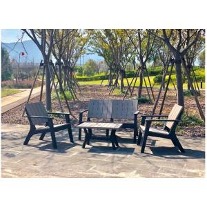 Signature Weave Garden Furniture Polly Black & Grey 4 Seat Sofa Set