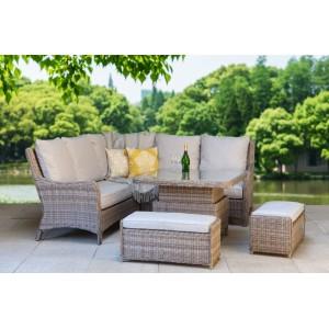 Signature Weave Garden Furniture Alexandra Corner Dining Sofa Set