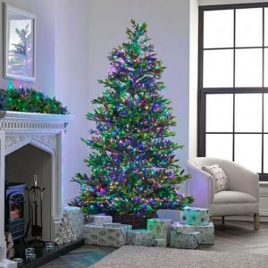 1500 Multi Colour LED Compact Cluster Christmas Tree Lights